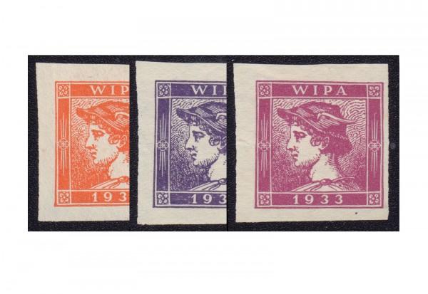 Österreich WIPA 1933 3 verschiedene Merkure unsere Wahl