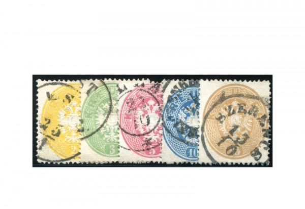 Österreich Kaiserreich 1863 Mi.Nr. 24/28 gest. 5 Marken