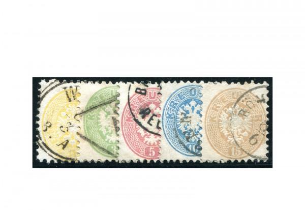 Österreich Kaiserreich Mi.Nr. 30/34 Doppeladler gestempelt
