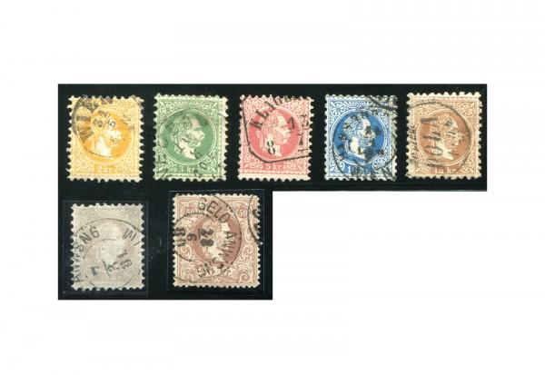 Österreich Kaiserreich 1867 Mi.Nr. 35/41 I gest. Kaiser Franz Joseph