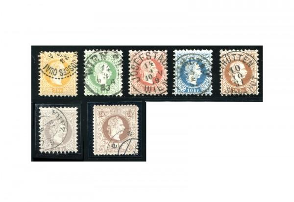 Österreich Kaiserreich 1867 Mi.Nr. 35/41 II gest. Kaiser Franz Joseph