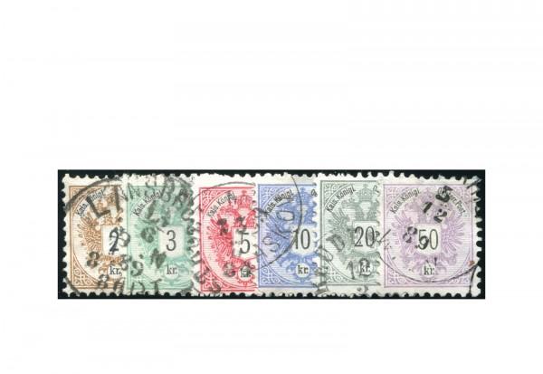 Österreich Kaiserreich 1883 Mi.Nr. 44/49 gest. Doppeladler
