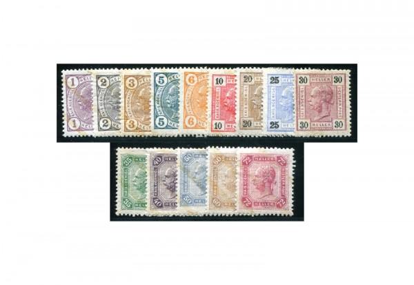Briefmarken Österreich Kaiser Franz Joseph 1904 Michel-Nr. 105/18 gestempelt