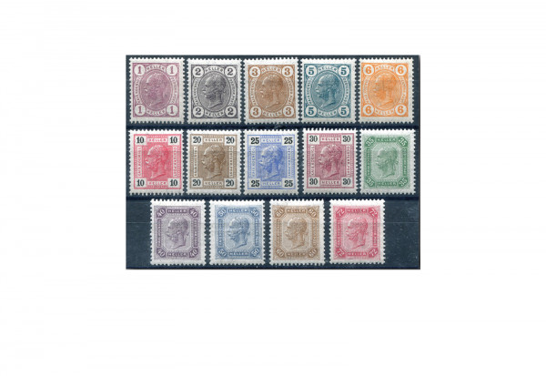 Österreich Kaiserkopfzeichnungen 1905 Mi.Nr. 119/132 gestempelt