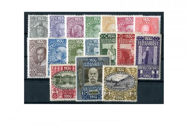 Briefmarke Österreich Sonderausgabe1910 Michel-Nr. 161-177 gestempelt