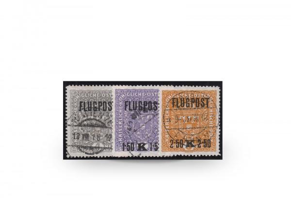 Österreich Kaiserreich Flugpostmarken 1918 Mi.Nr. 225/227 y gestempelt