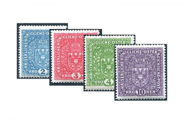 Kaiserreich Österreich Mi.Nr. 208/211 II gestempelt