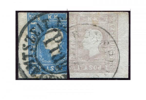 Österreich Kaiserreich Mi.Nr. 16-17 gest. Zeitungsmarken