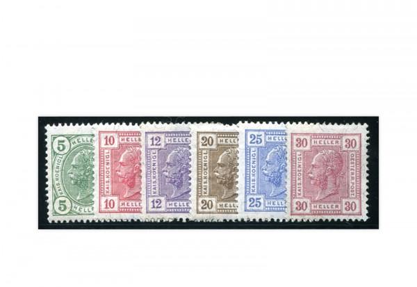 Österreich 1906 Zeitungsmarken Mi.Nr. 133-38 gest.
