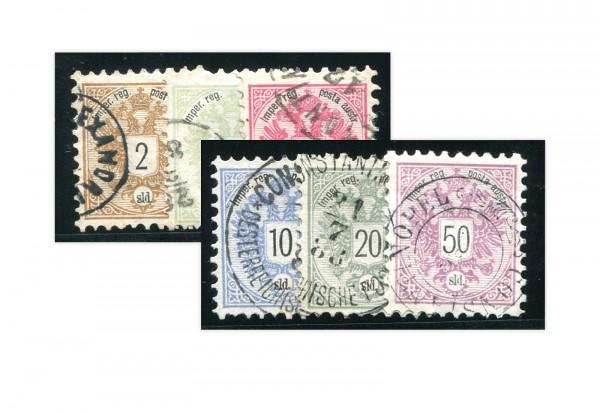 Levante Wappen 1883 Mi.Nr.8-13 gest.