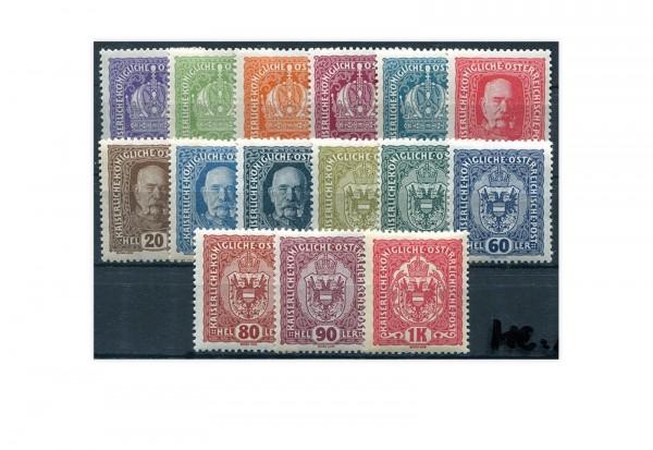 Kaiserreich Österreich Mi.Nr. 185/199 gestempelt