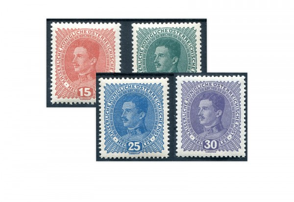 Briefmarken Kaiserreich Österreich Michel-Nr. 221/224 gestempelt