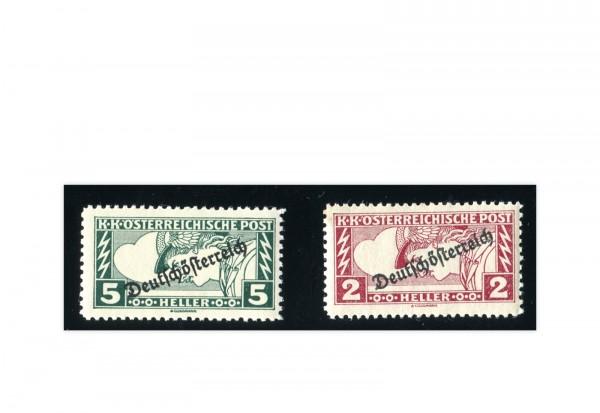 Österreich Mi.Nr. 252/253 gestempelt Merkurkopf 1919