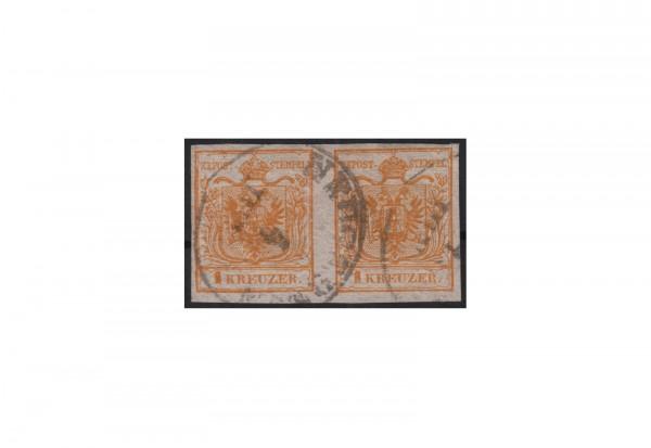 Kaisertum Österreich Wappenzeichnung 1850 Michel Nr. 1 Xa gestempelt PA