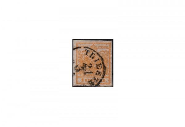 Kaisertum Österreich Wappenzeichnung 1850 Michel Nr. 1 Xd gestempelt (WZ) geprüft
