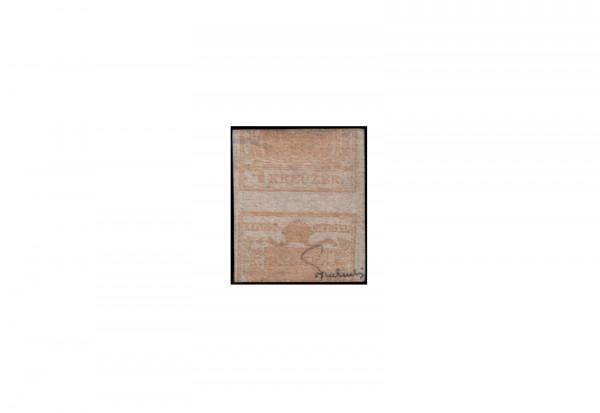 Kaisertum Österreich Wappenzeichnung 1850 Michel Nr. 1 X DG gestempelt geprüft