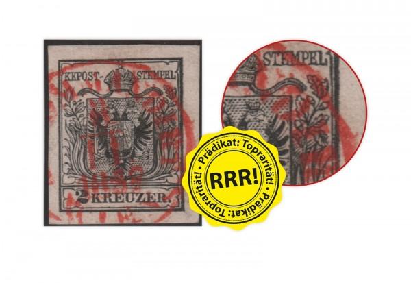 Briefmarke Österreich Freimarke 1854 Michel-Nr. 2 Ya gestempelt geprüft Dr.Ferchenbauer