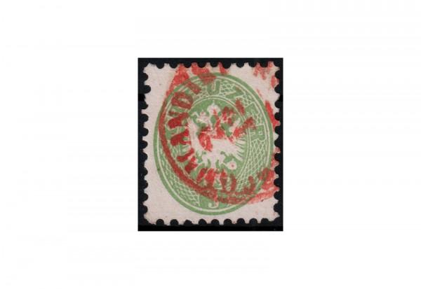 Österreich Kaiserreich Freimarken Doppeladler 1863/64 Michel Nr. 31 gestempelt mit rotem Stempel