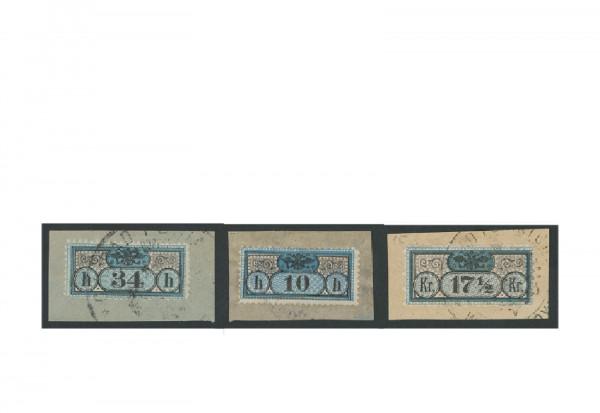 Briefmarken Österreich Gerichtszustellungsmarken 1898-1908 Michel-Nr. GZ 1-3 gestempelt