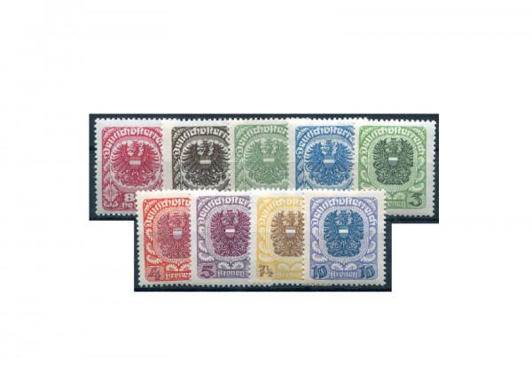Briefmarken Österreich Freimarken 1919-1920 Michel-Nr. 312-320 y gestempelt