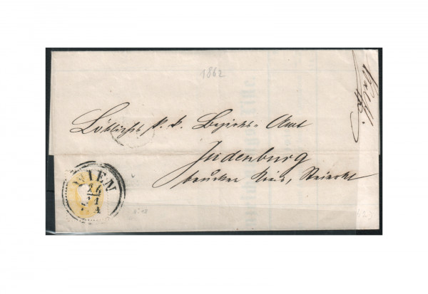 Österreich Mi.Nr. 18 auf Brief Kaiser Franz Joseph 1860