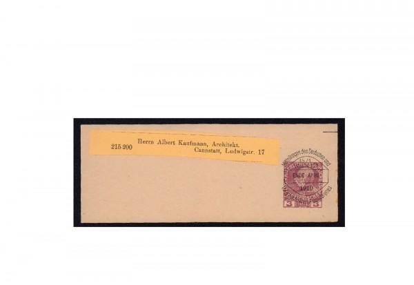 Ganzsachenstreifband Österreich 1908 Michel-Nr. S 8 c gestempelt