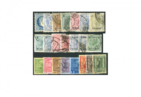 Briefmarken Österreich Levante 1867 bis 1901 gestempelt