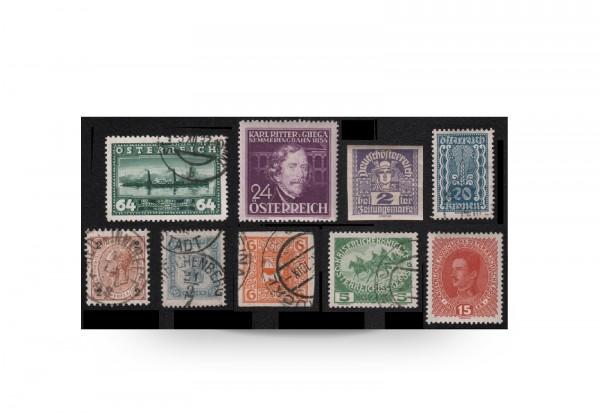 Briefmarken Österreich Luxus-Kollektion 1890/1938