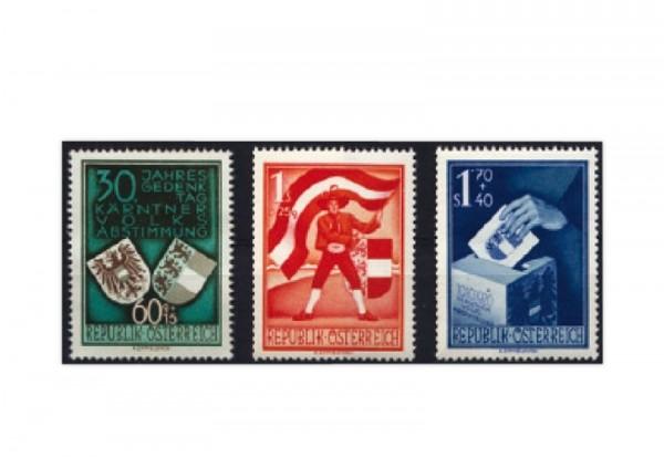 Österreich Frühausgaben 1950 Volksabstimmung Mi.Nr. 952/954 postfrisch