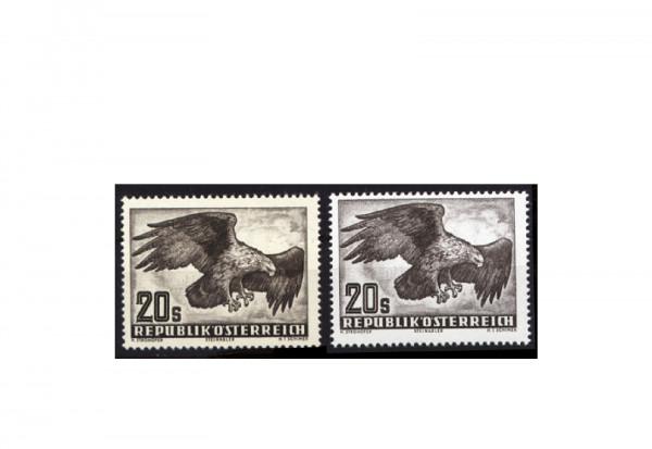 Briefmarken Österreich Steinadler 1952-1959 Michel-Nr. 968 x+y postfrisch