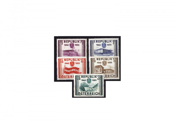Österreich Frühausgaben Mi.Nr. 1012/1016 postfrisch