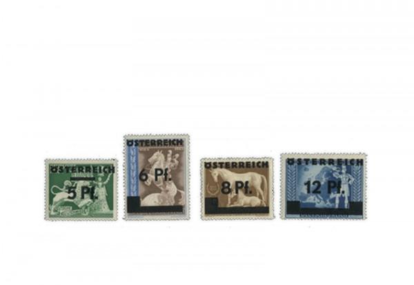 Briefmarken Österreich 2. Wiener Aushilfsausgabe 1945 Michel-Nr. 664/667 postfrisch