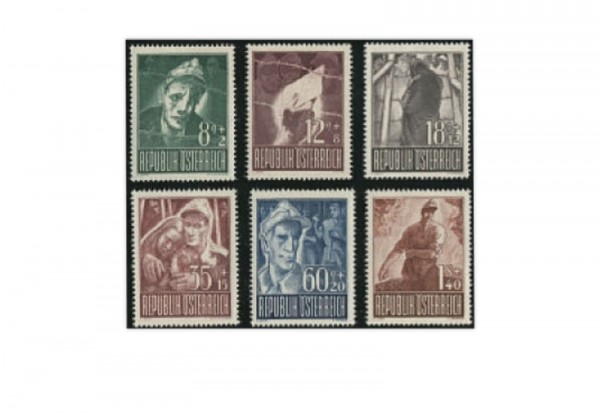 Österreich Kriegsgefangene Mi.Nr. 829/834 postfrisch