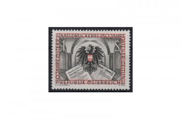 Österreich Einzelausgabe 150 Jahre Österreichische Staatsdruckerei Michel Nr. 1011 postfrisch