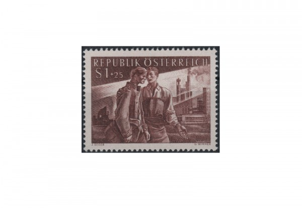 Briefmarke Österreich 1955 Heimkehrer Michel Nr. 1019 postfrisch