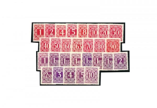 Briefmarken Österreich 1949 Portomarken Michel-Nr. 232/259 postfrisch
