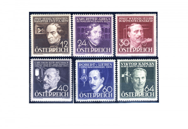 1.Republik Österreich Mi.Nr. 632/637 postfrisch