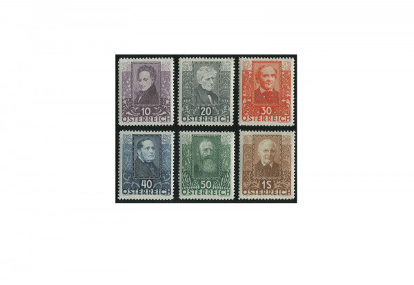Österreich Briefmarken Mi.Nr. 524/529 postfrisch - Wohlfahrt Dichter 1931