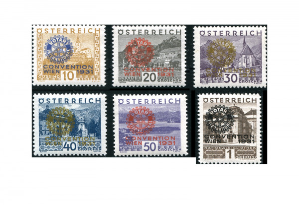 Österreich Briefmarken Rotary International 1931 Mi.Nr. 518/523 **