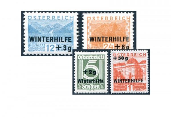 1.Republik Österreich Winterhilfe 1933 Mi.Nr. 563/566 postfrisch