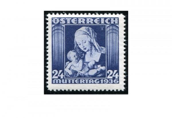 Briefmarke 1. Republik Österreich Muttertag 1936 Michel-Nr. 627 postfrisch