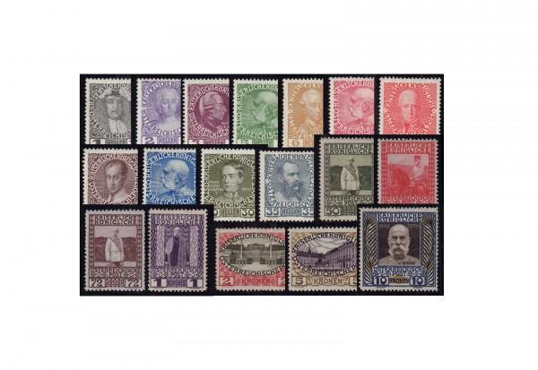 Österreich Jubiläumssatz 1908 Michel Nr. 139/56 postfrisch