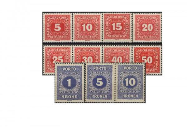 Österreich Portomarken Ausgabe 1916 Michel Nr. P47/57 postfrisch