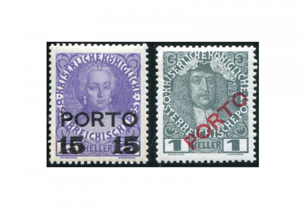 Österreich Portomarken Ausgabe 1916 II