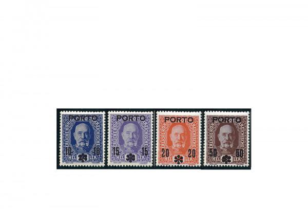 Österreich Portomarken Ausgabe 1917 Michel Nr. P 60/63 postfrisch