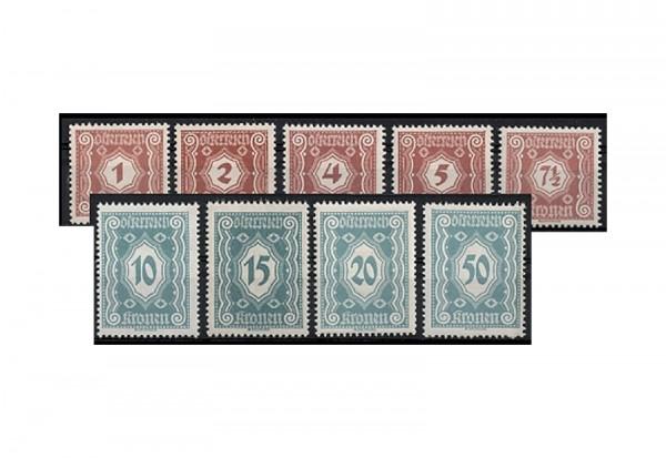 Österreich Portomarken Ausgabe 1922 Michel Nr. P 103/11