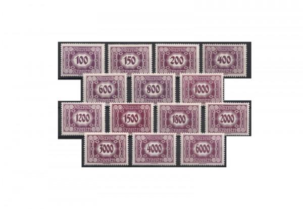 Briefmarken Österreich Portomarken Ausgabe 1922/24 Michel-Nr. P 118/31 postfrisch