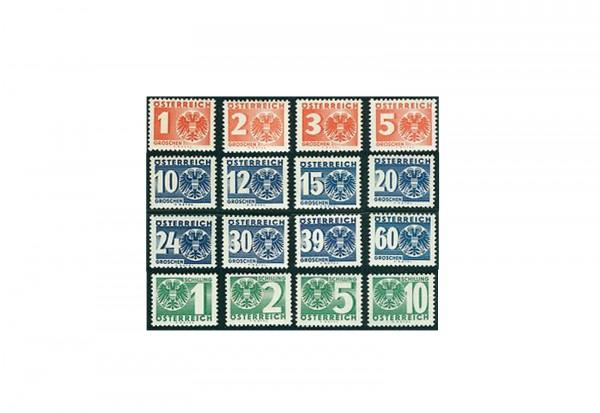 Österreich Portomarken Ausgabe 1935 Michel Nr. 159/74 postfrisch