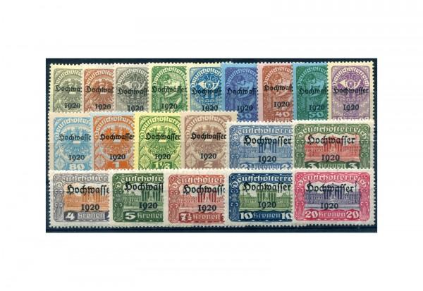 Briefmarken Österreich 1921 Hilfe für Hochwassergeschädigt Michel-Nr. 340 - 359 postfrisch