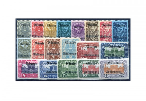 Österreich Mi.Nr. 321/339 ** Volksabstimmung